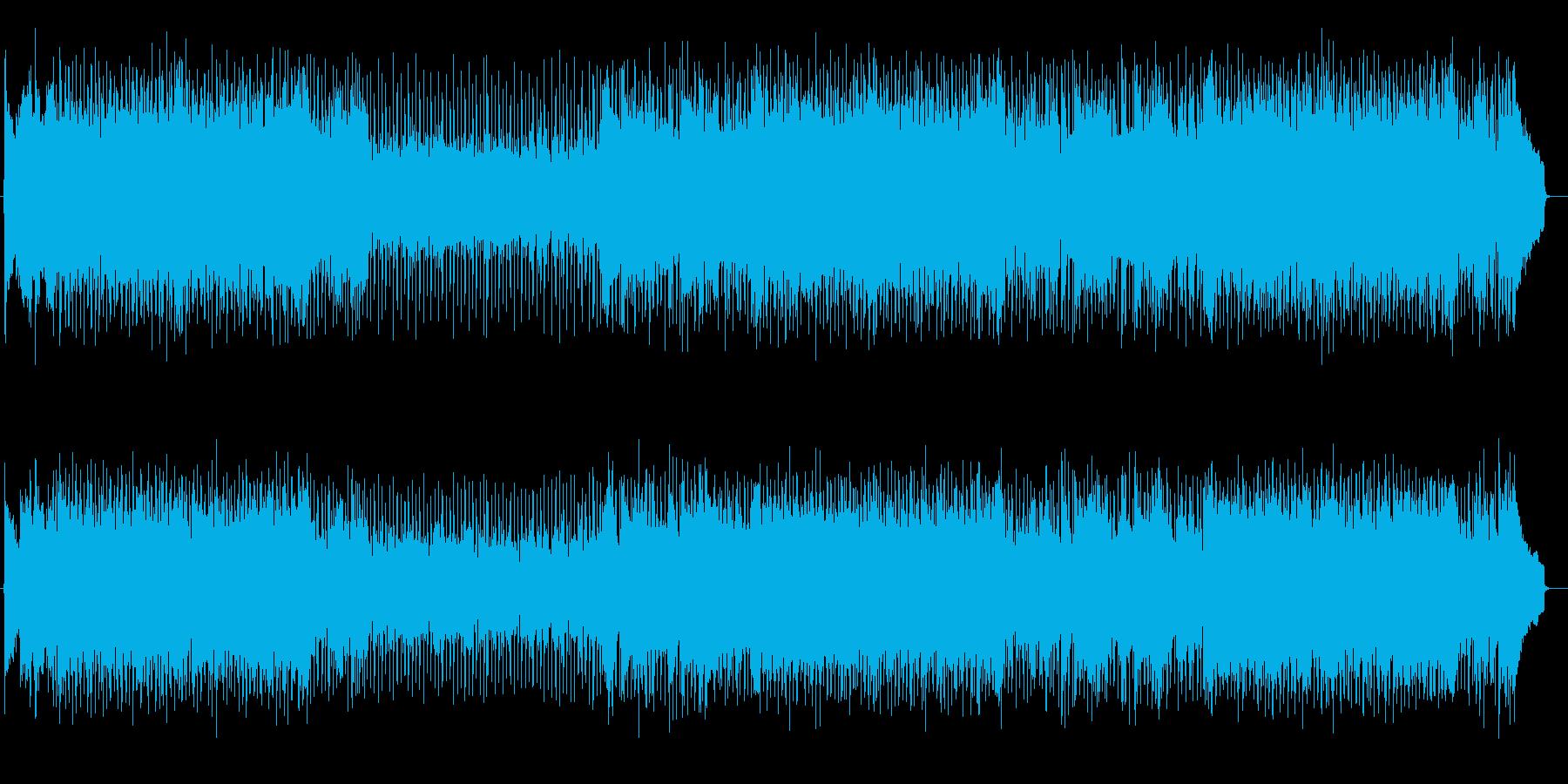 明るく前向きなギターのきいた曲の再生済みの波形