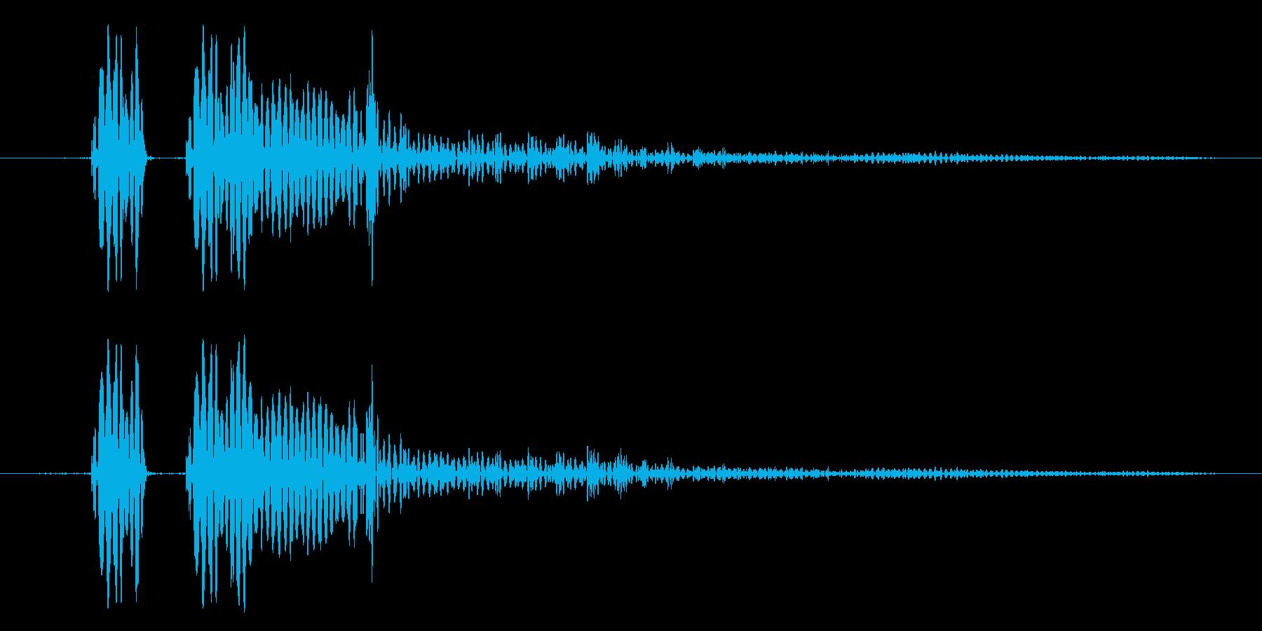 「ポヨン!」コミカルな足音や演出に!07の再生済みの波形