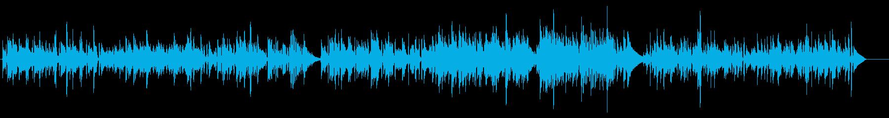 春っぽいイメージのアコギインストの再生済みの波形