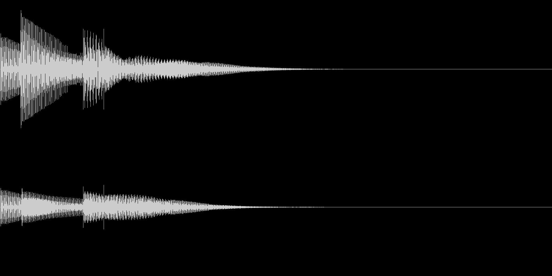 ピカッ(クリック_選択決定_03)の未再生の波形