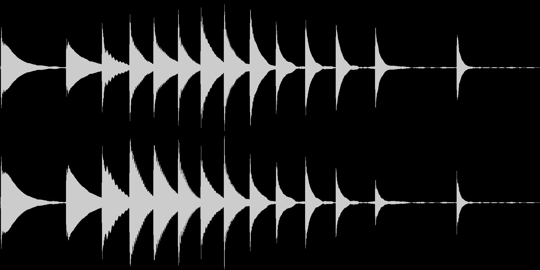Xylo 木琴のお茶目なジングルの未再生の波形