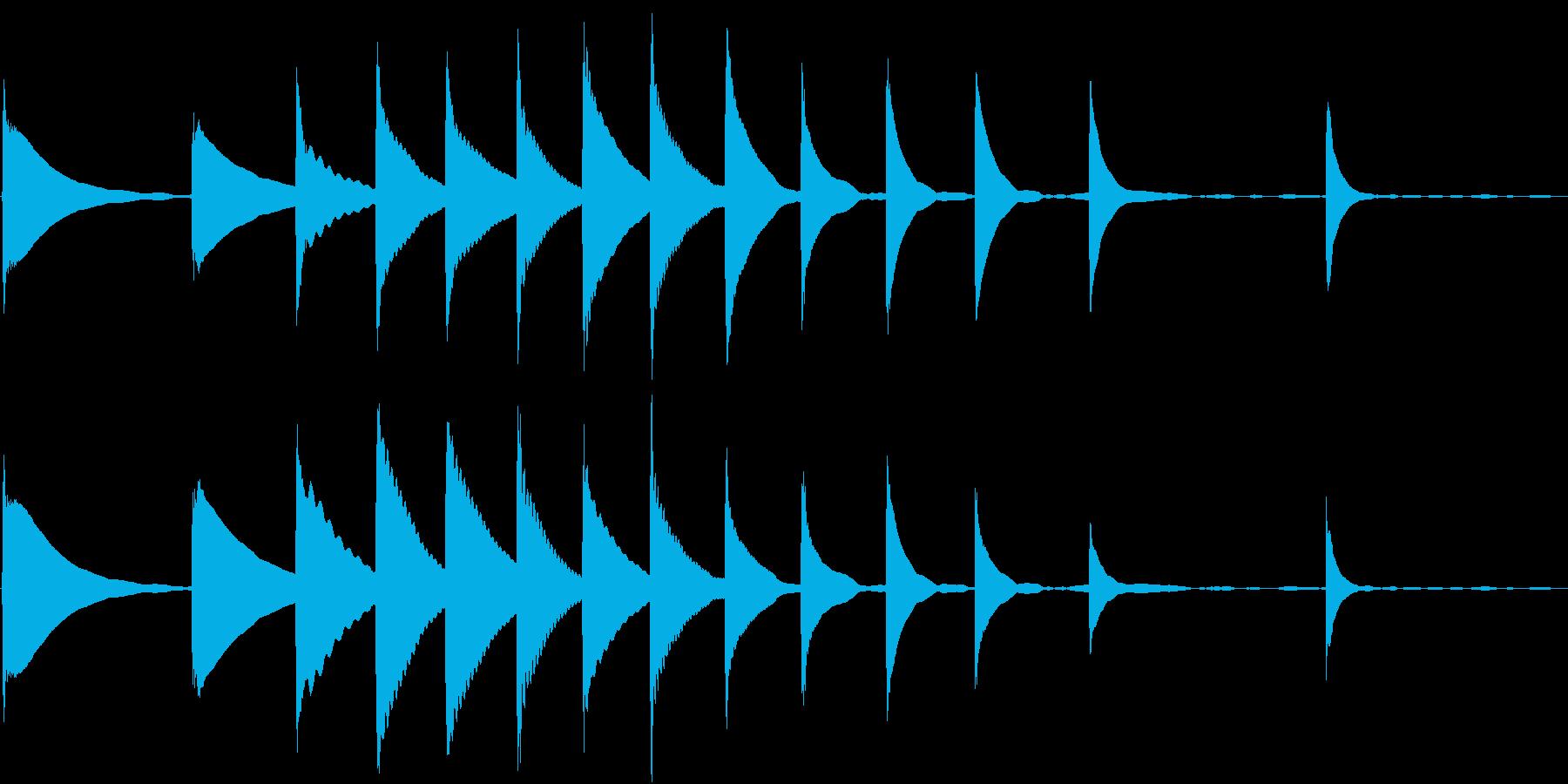 Xylo 木琴のお茶目なジングルの再生済みの波形