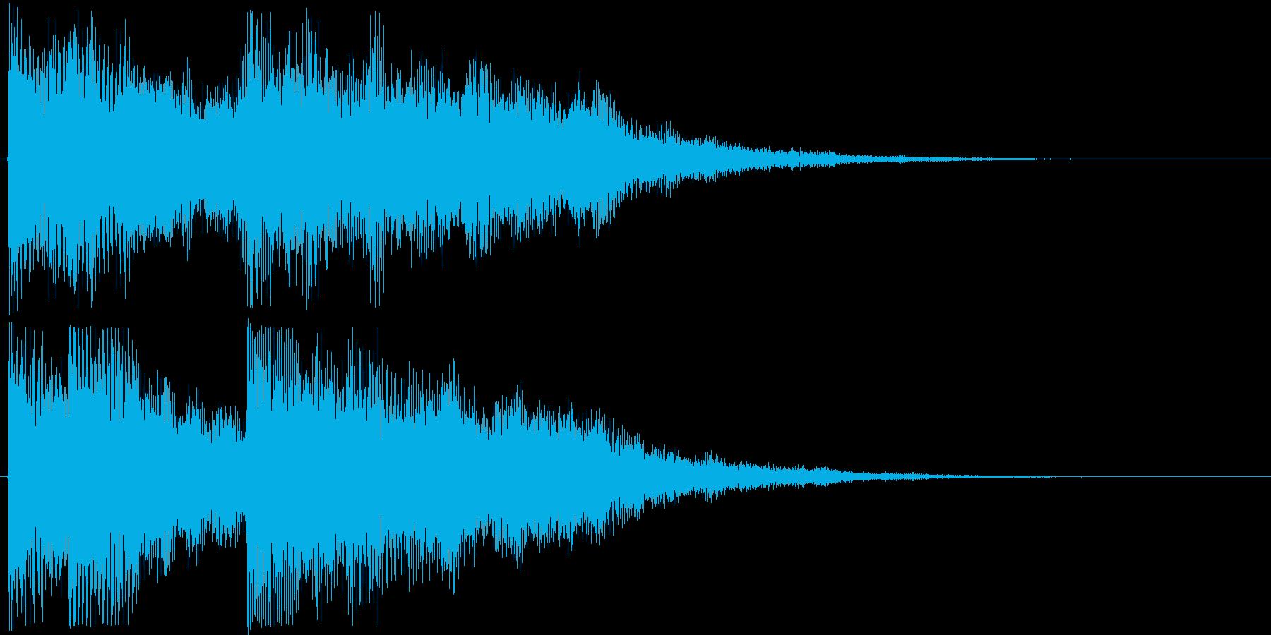 シリアス、クールな感じのゲームオーバー音の再生済みの波形