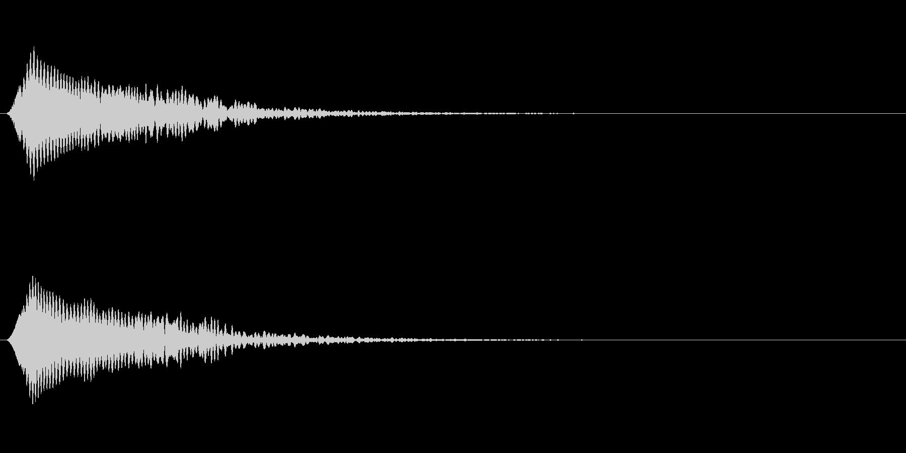 光る音 ピキーンの未再生の波形