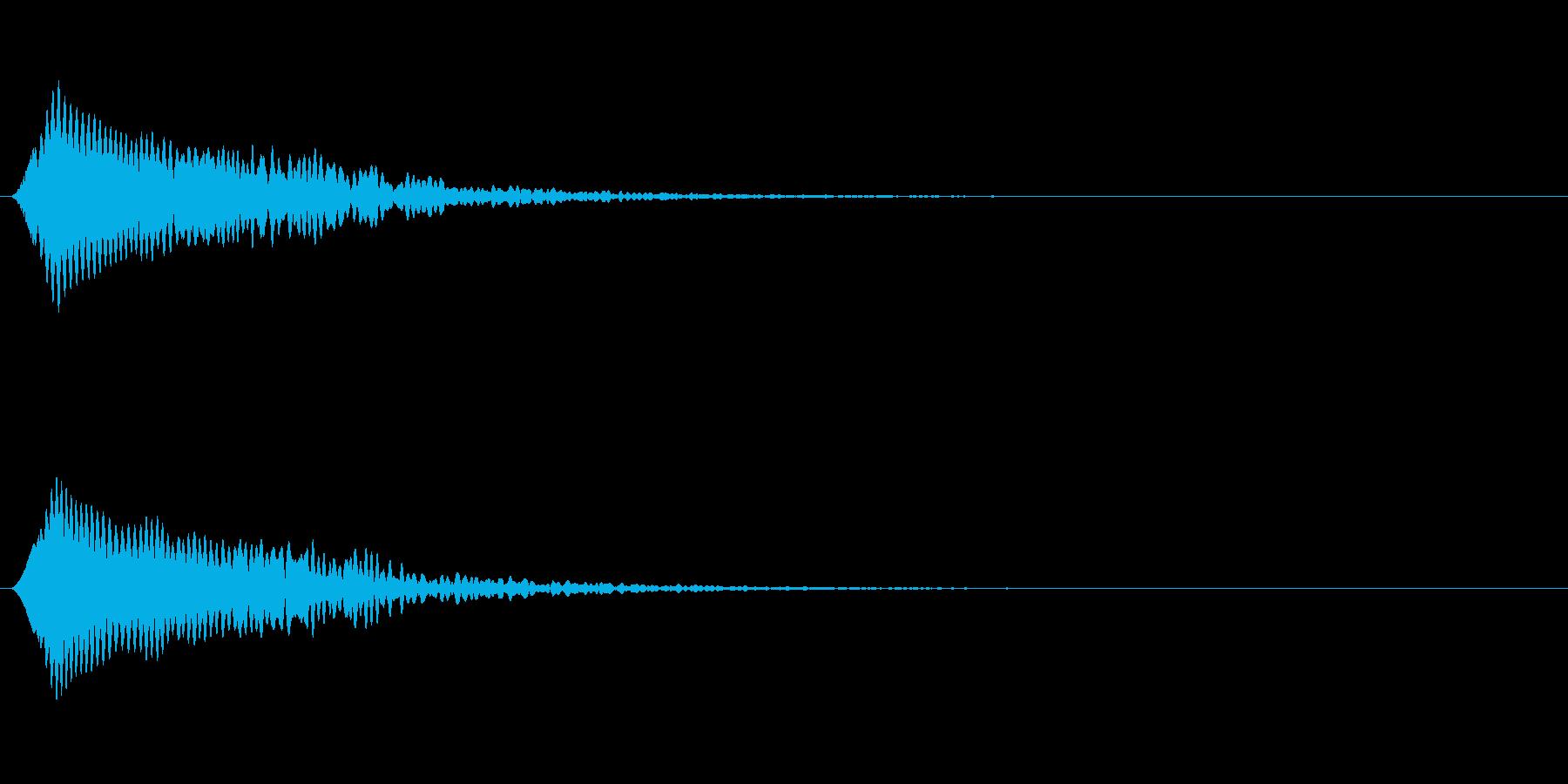 光る音 ピキーンの再生済みの波形
