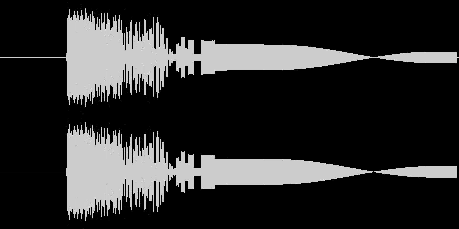 ファミコン風攻撃音ですの未再生の波形