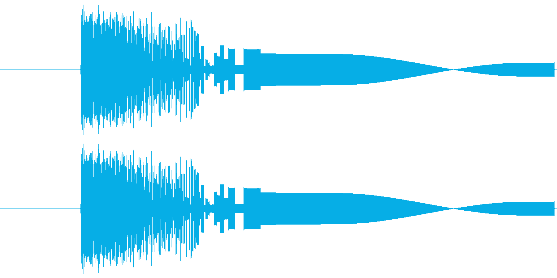 ファミコン風攻撃音ですの再生済みの波形