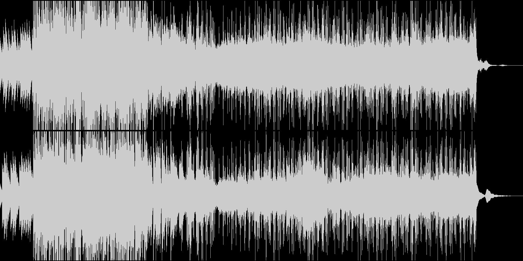 少しテンポの速い打ち込み曲の未再生の波形