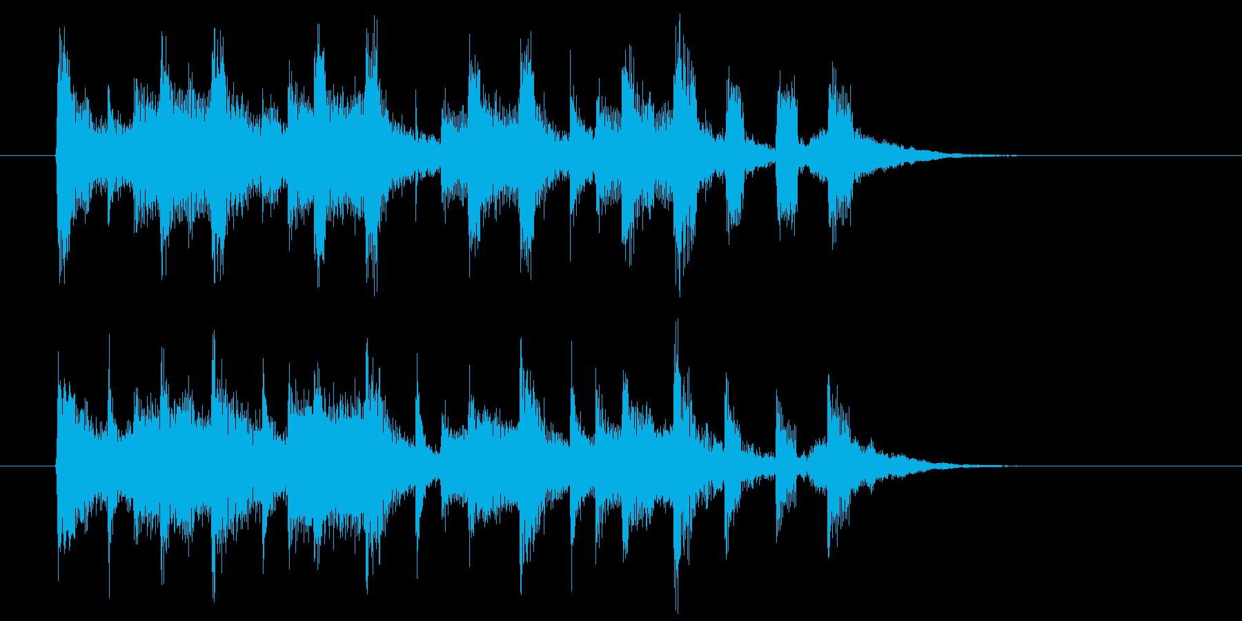無邪気な締めくくりのエレクトーン演奏の再生済みの波形