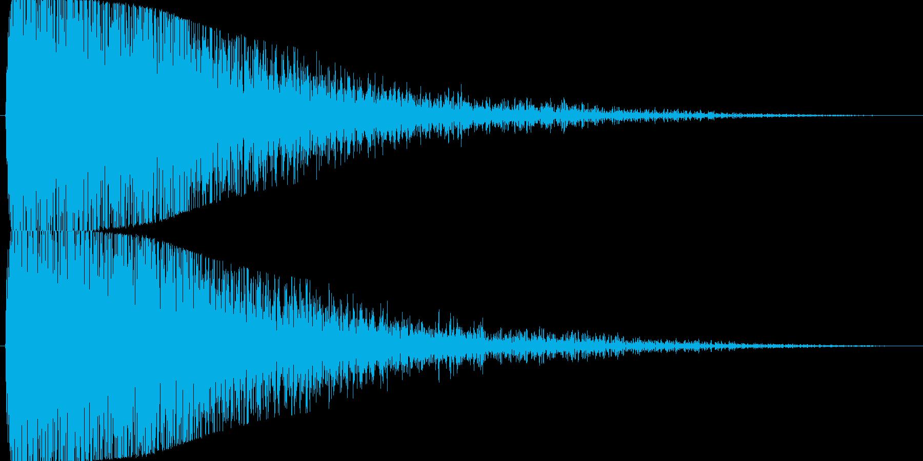 【爆音2】どかーん!という爆発音です。の再生済みの波形