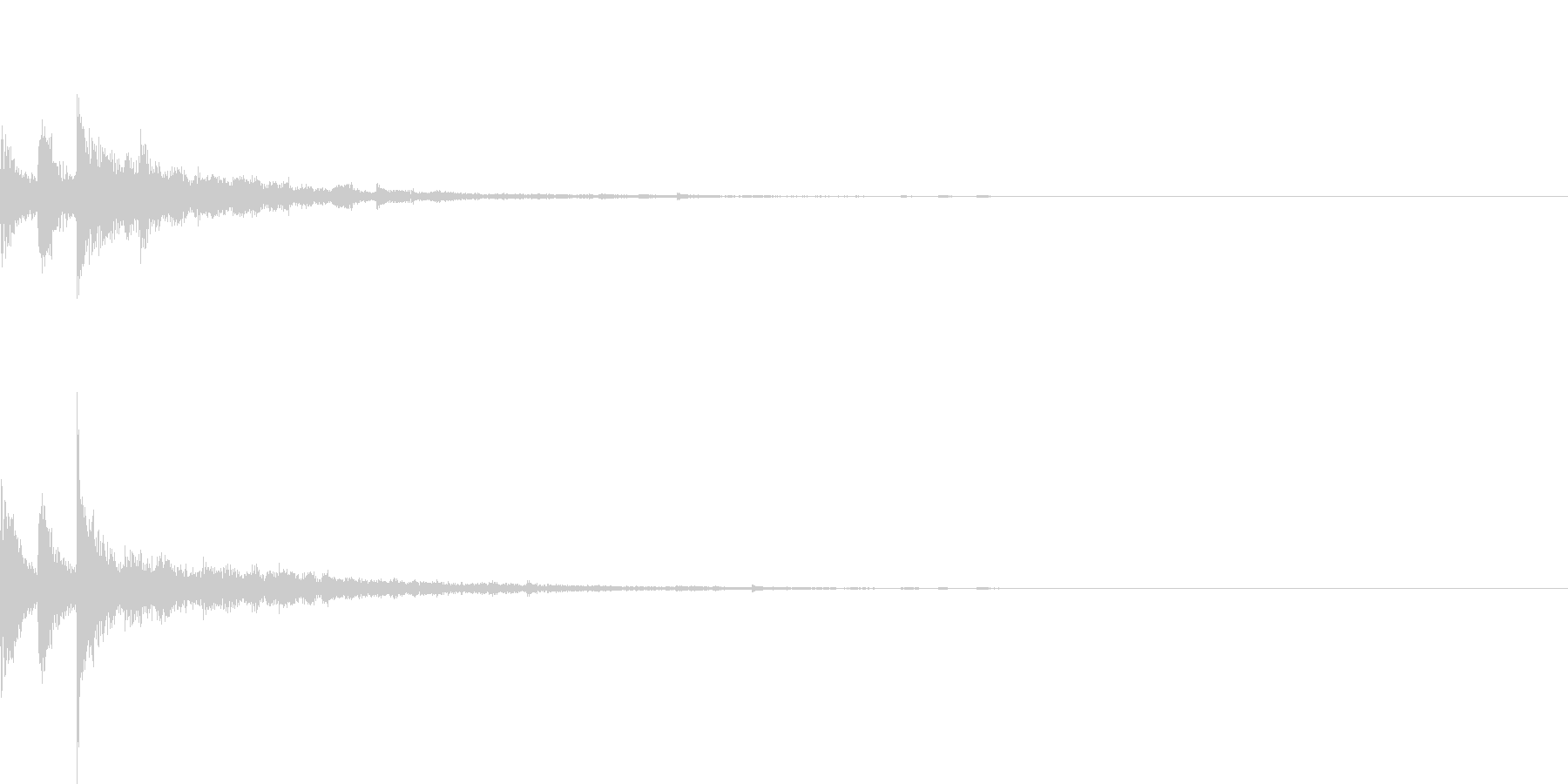 ぽろん♪(連鎖08)の未再生の波形