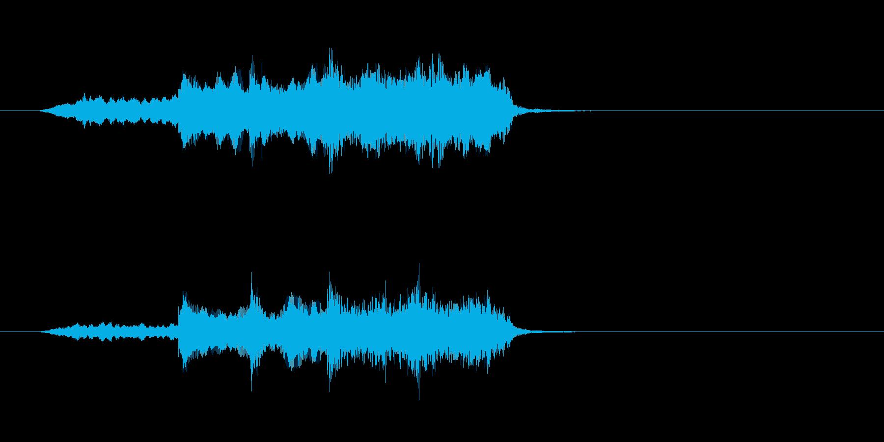 ストリングス 感動的 パーカッションの再生済みの波形