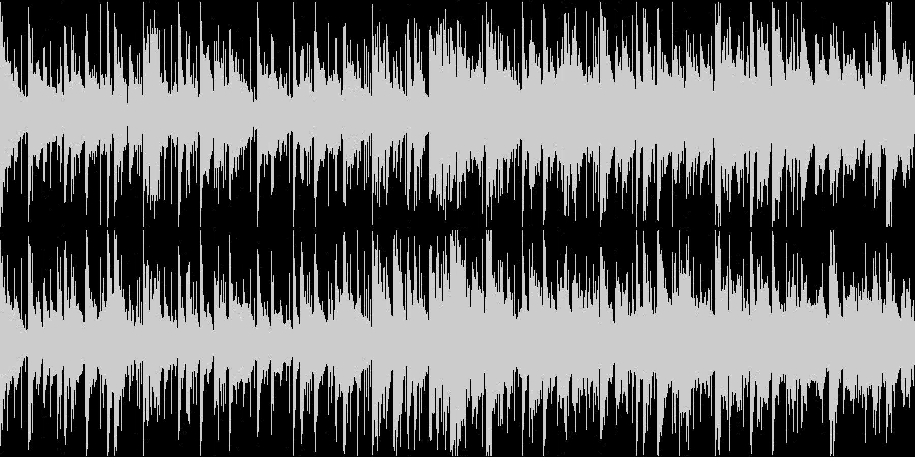 重厚感のある電子音楽(ループ仕様)の未再生の波形