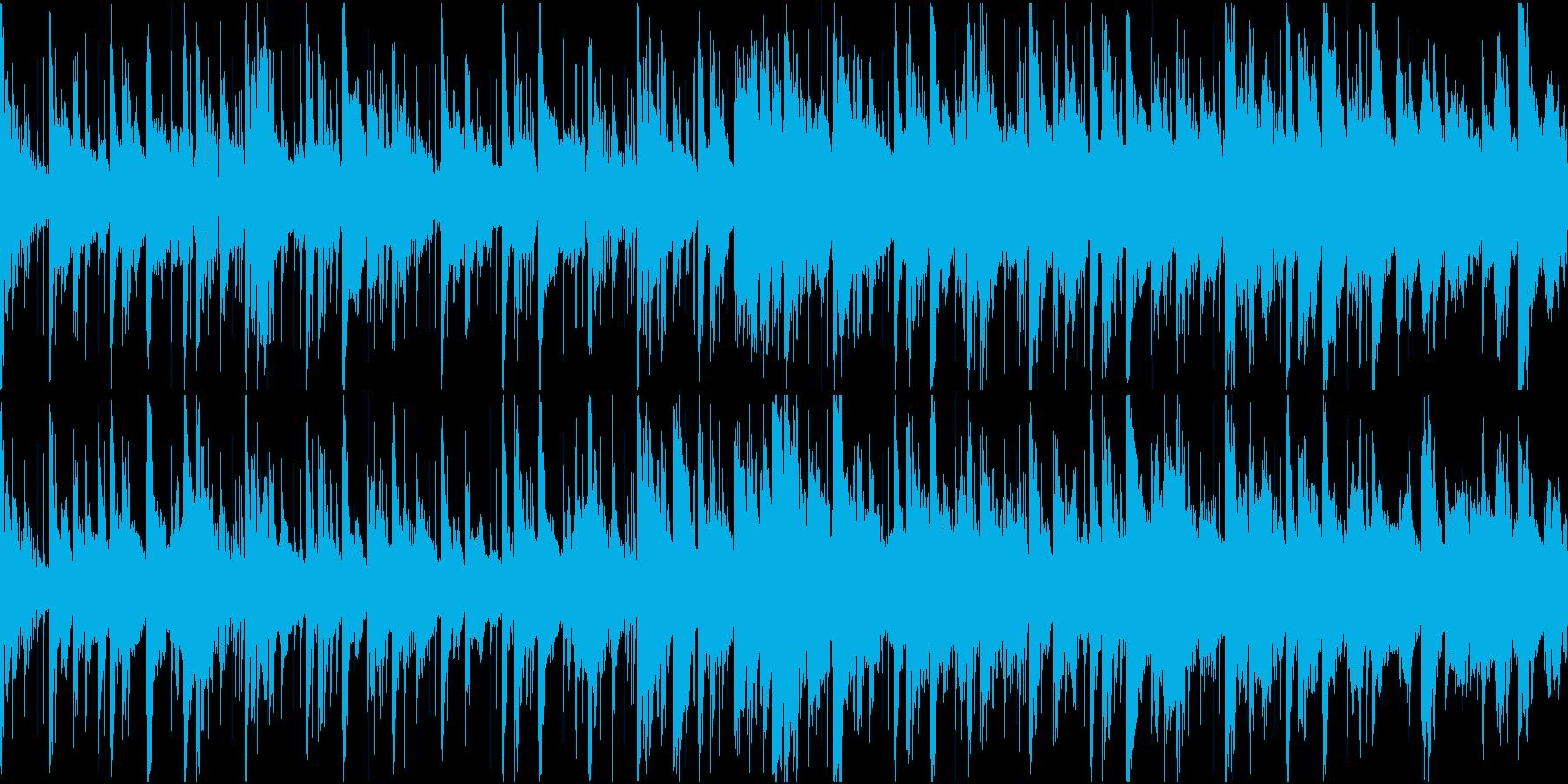 重厚感のある電子音楽(ループ仕様)の再生済みの波形