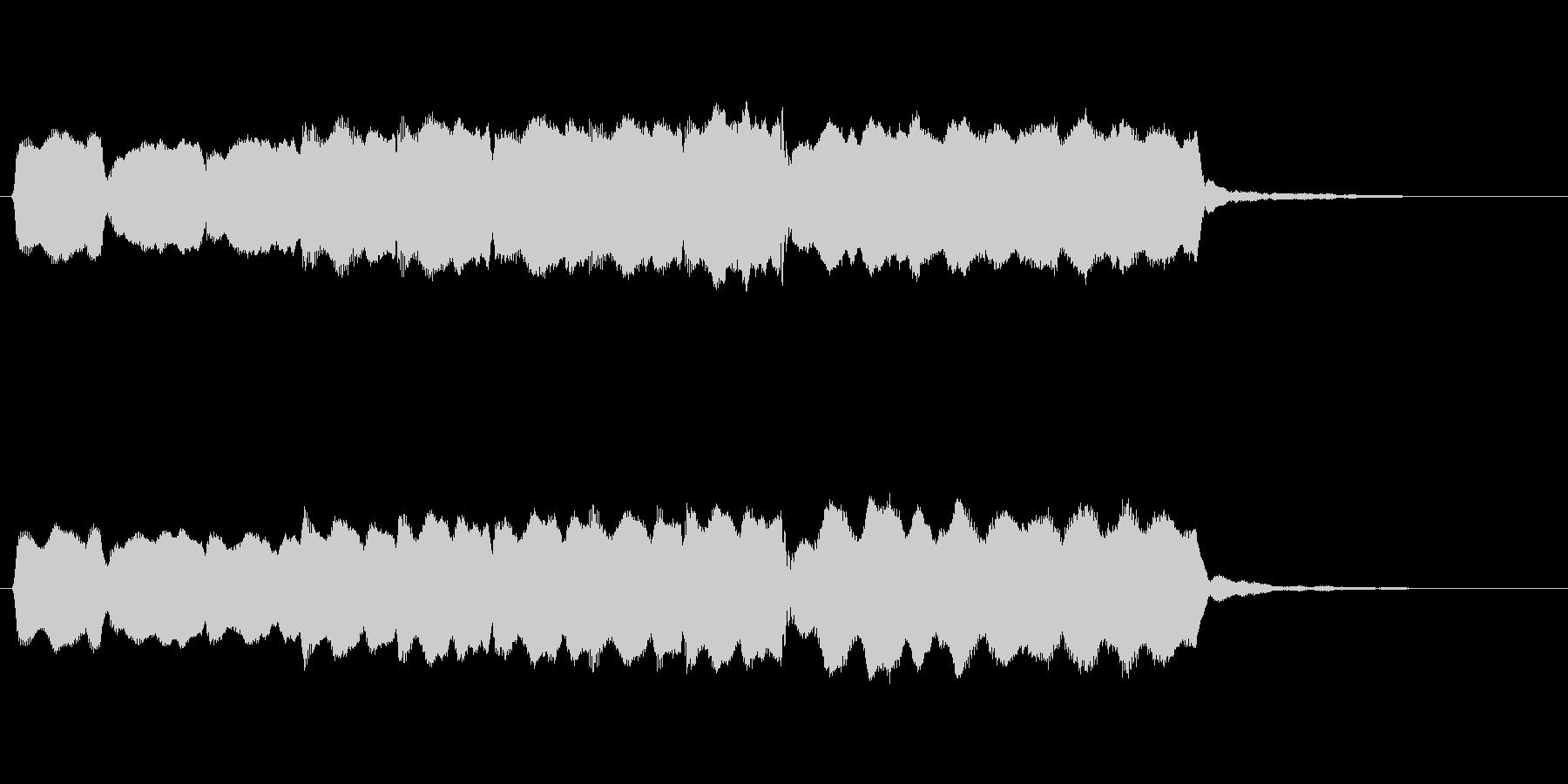 ゆったりとしたフルートのジングルの未再生の波形