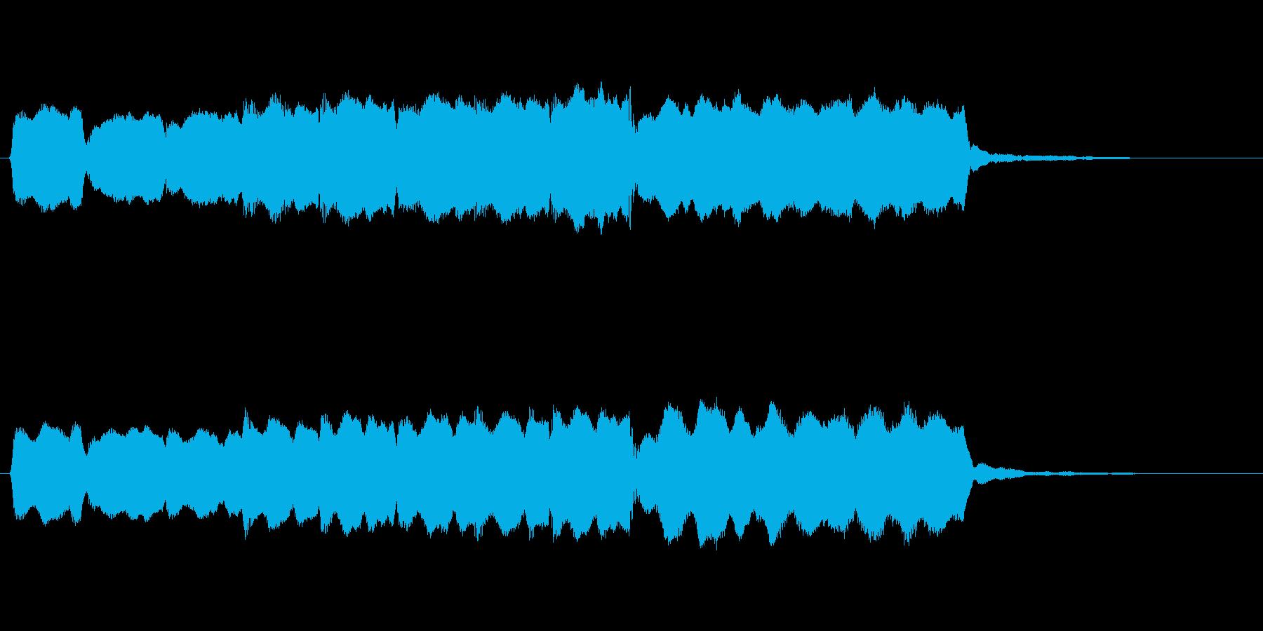 ゆったりとしたフルートのジングルの再生済みの波形
