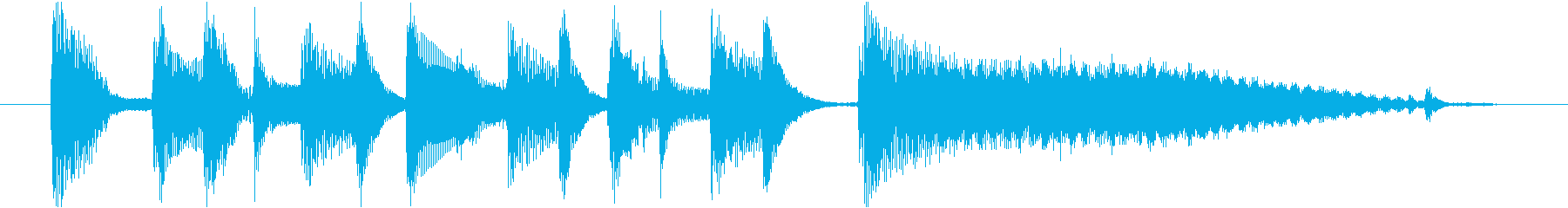 ジングル(ボサノヴァ)の再生済みの波形