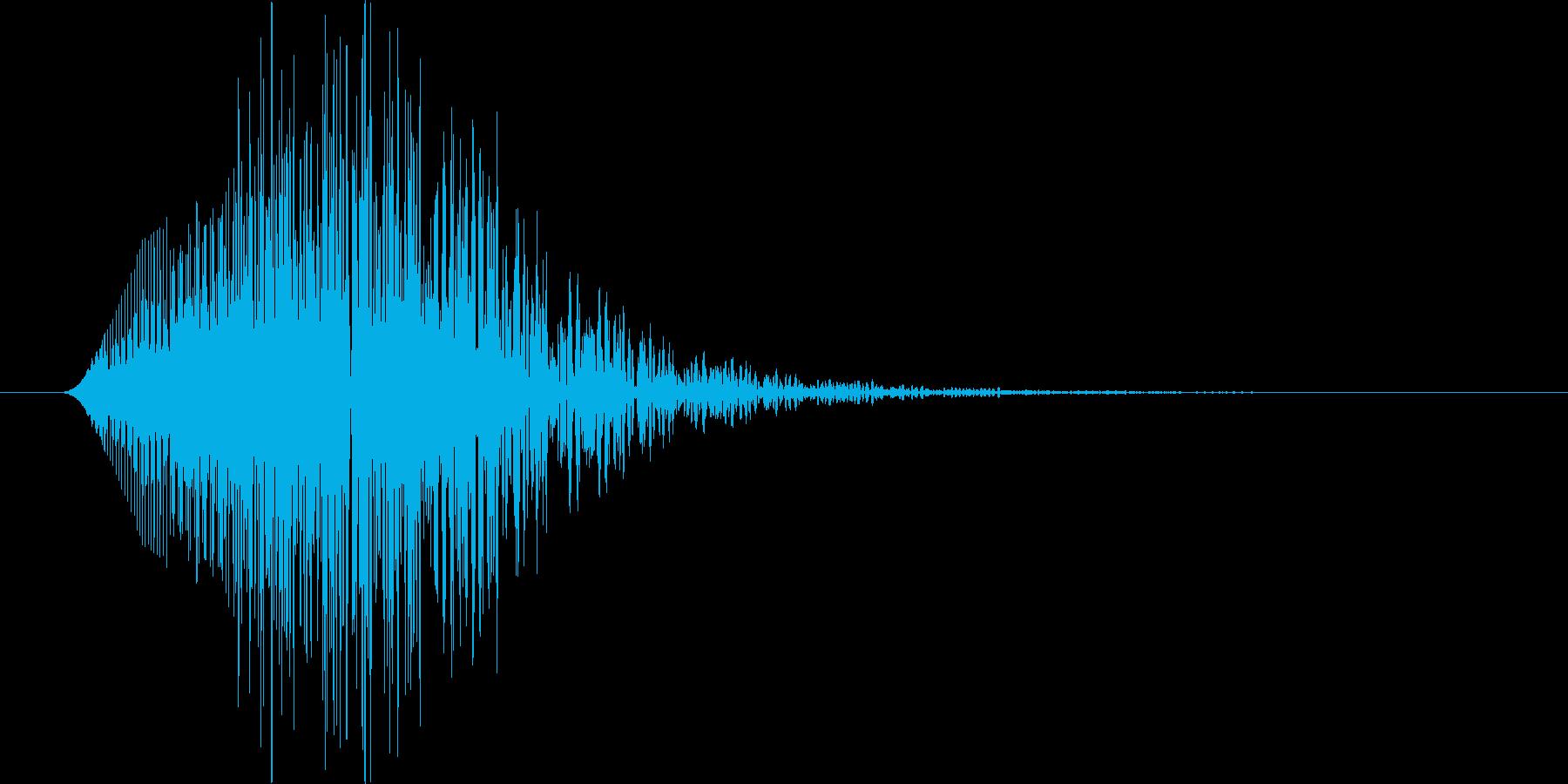 ゲーム、アプリに使えるキャンセル音ですの再生済みの波形