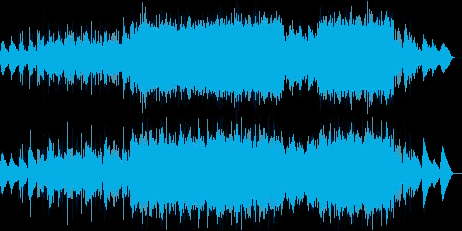 暗め悲しげなBGMの再生済みの波形