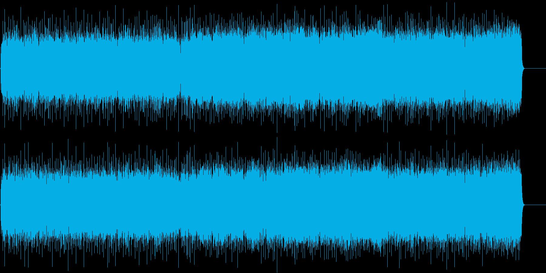 男達の情熱的なロック/ファンクの再生済みの波形
