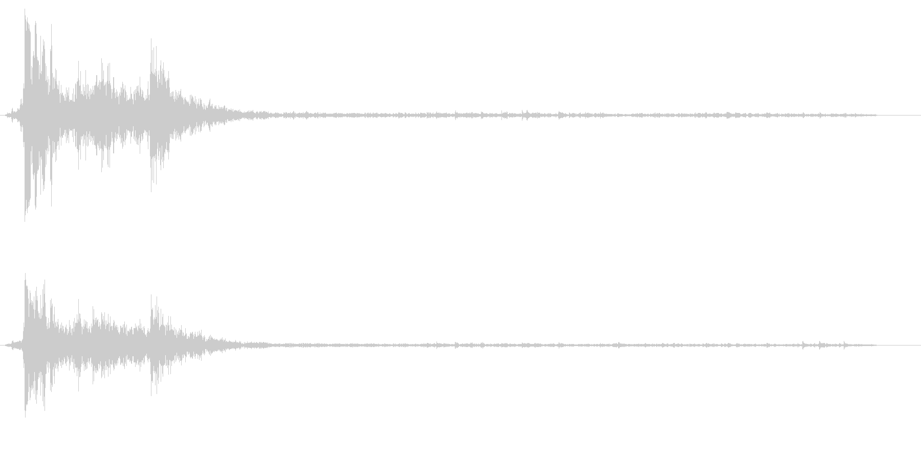 バシャッという水滴落下の音の未再生の波形