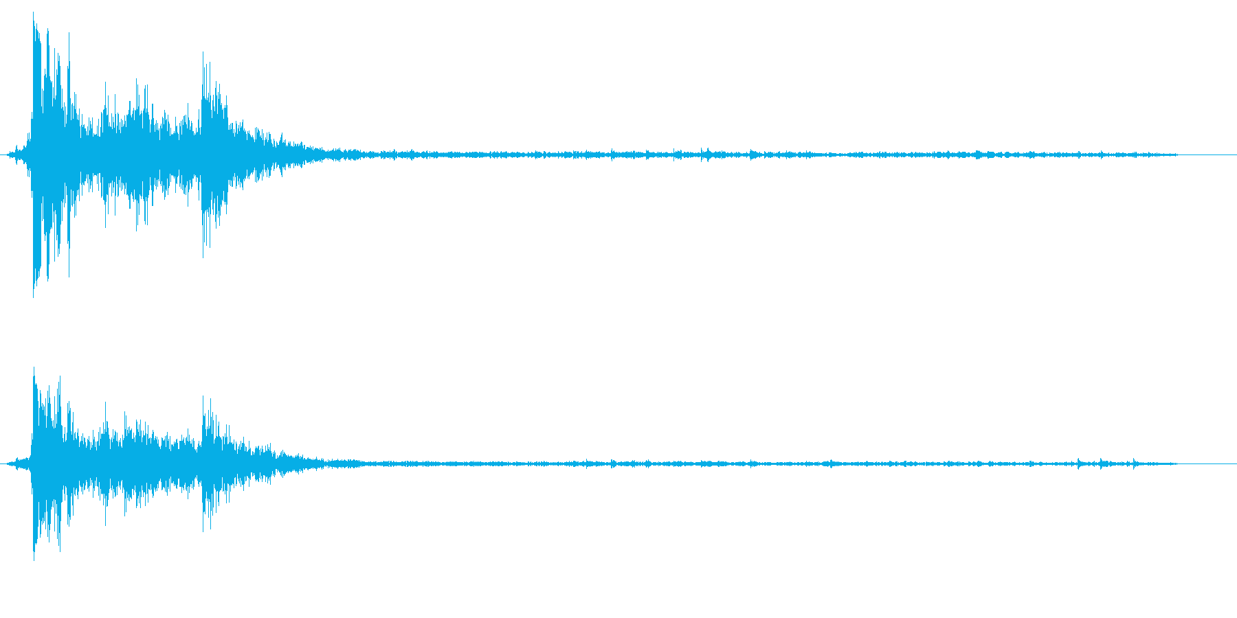 バシャッという水滴落下の音の再生済みの波形
