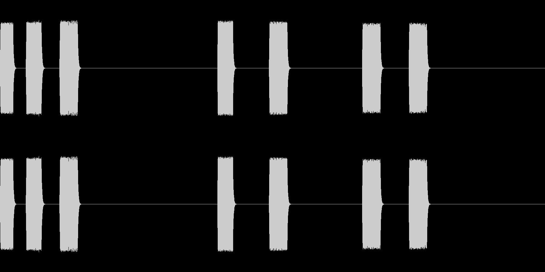 選択の未再生の波形