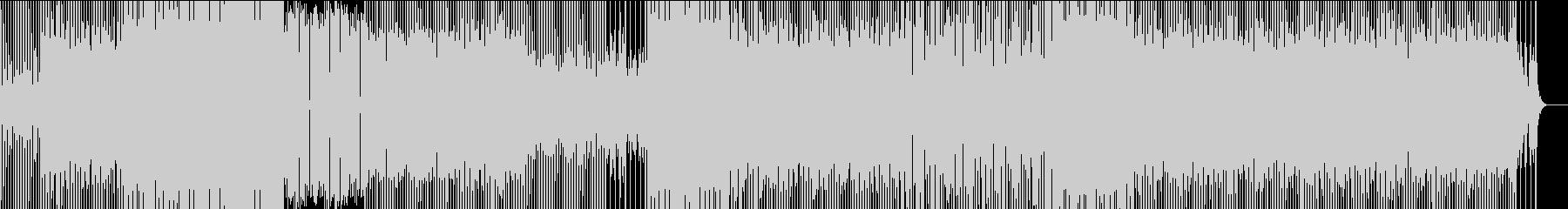 少し暗めのテクノポップの未再生の波形