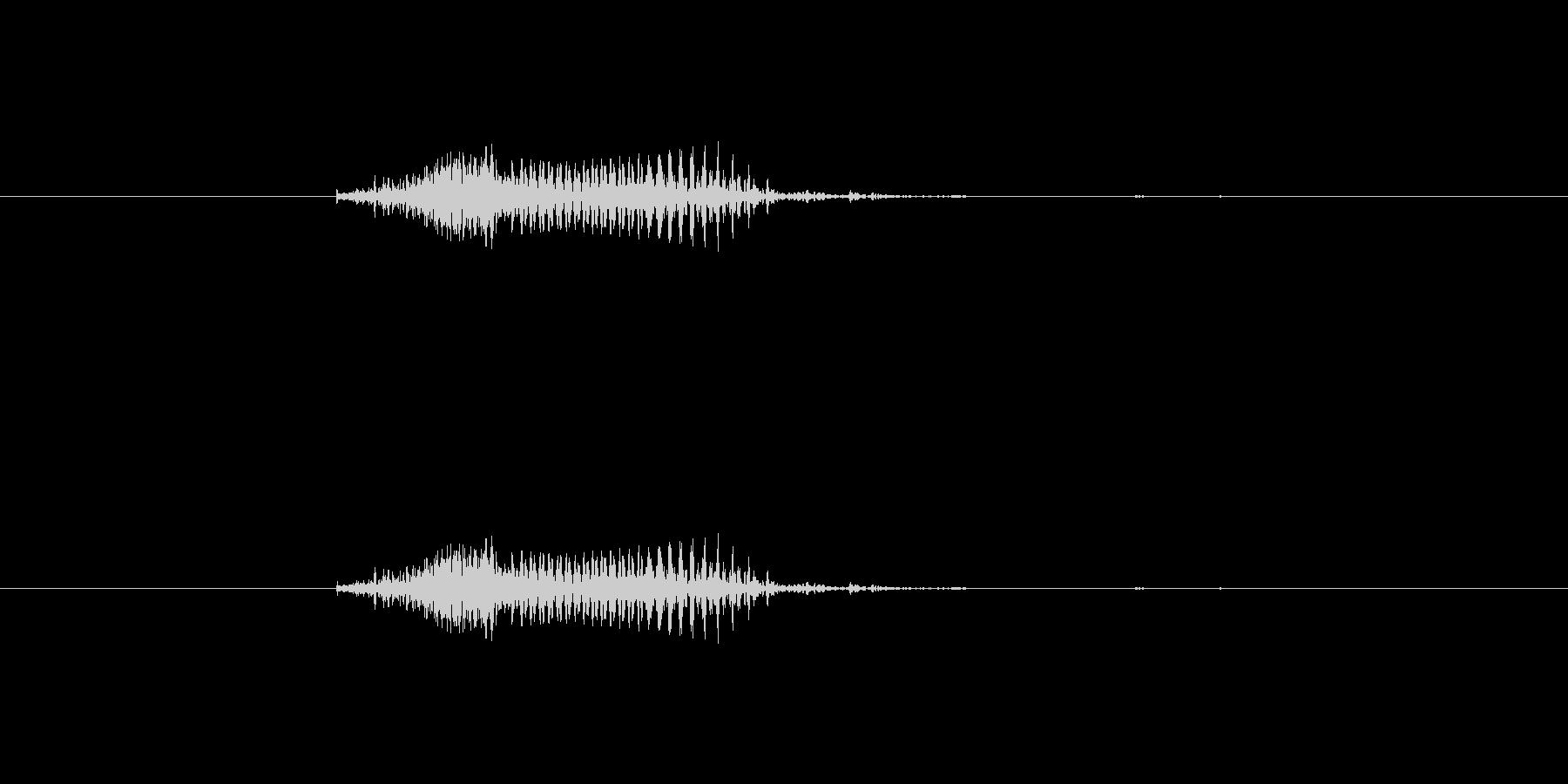 ツモ(麻雀)の未再生の波形