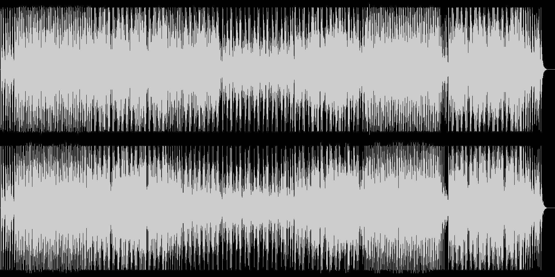リズミカルな和風の弦管楽器サウンドの未再生の波形