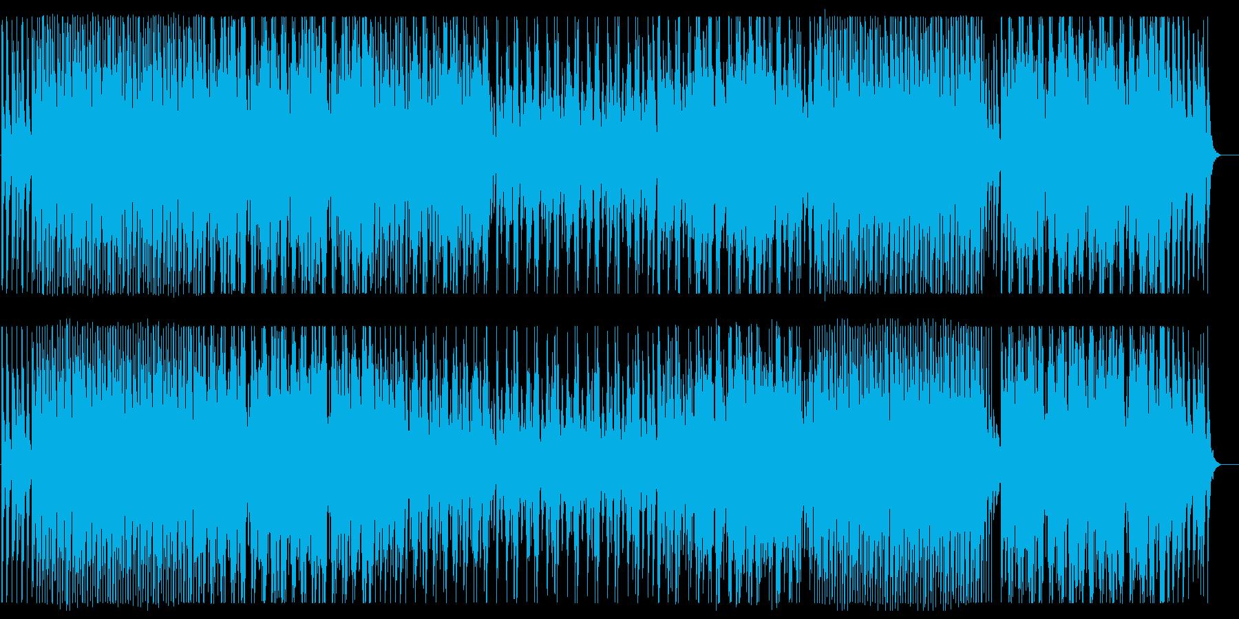 リズミカルな和風の弦管楽器サウンドの再生済みの波形