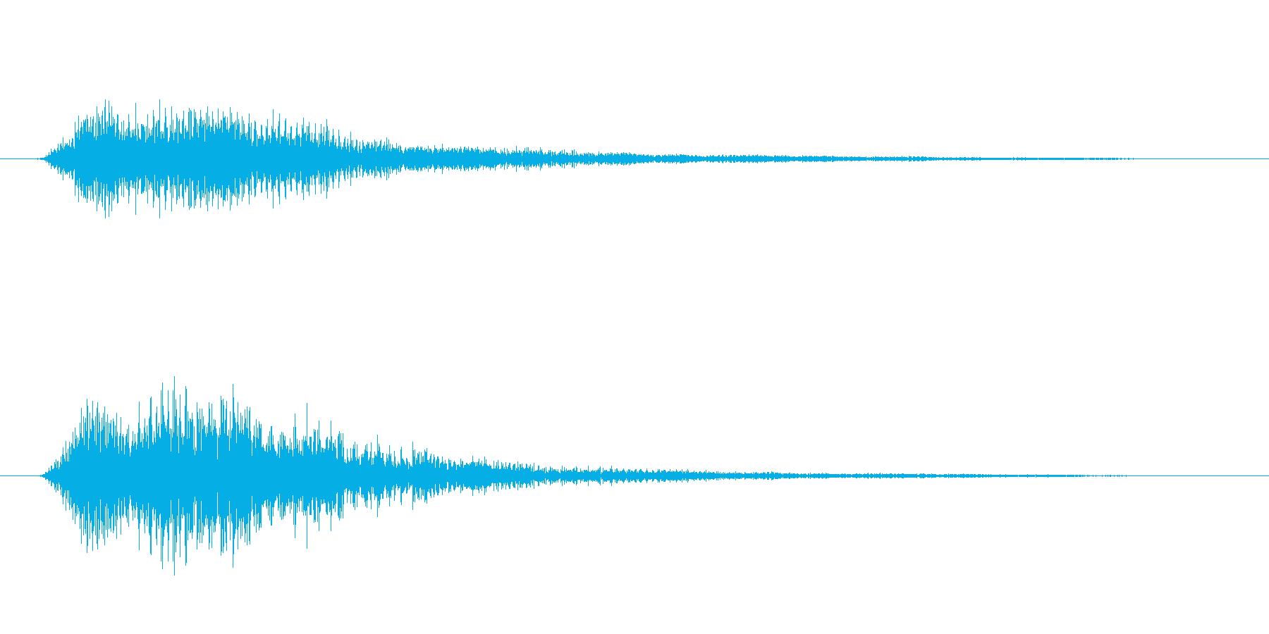 決定/クリック/選択音(和音/シンセ)の再生済みの波形