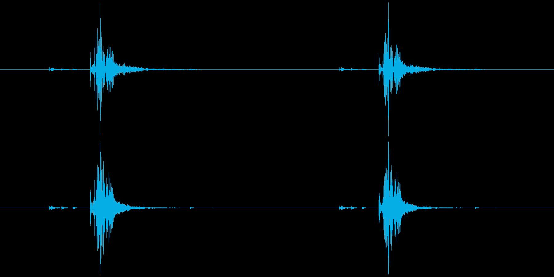 錠剤などを容器から出す。 高音 チャ×2の再生済みの波形