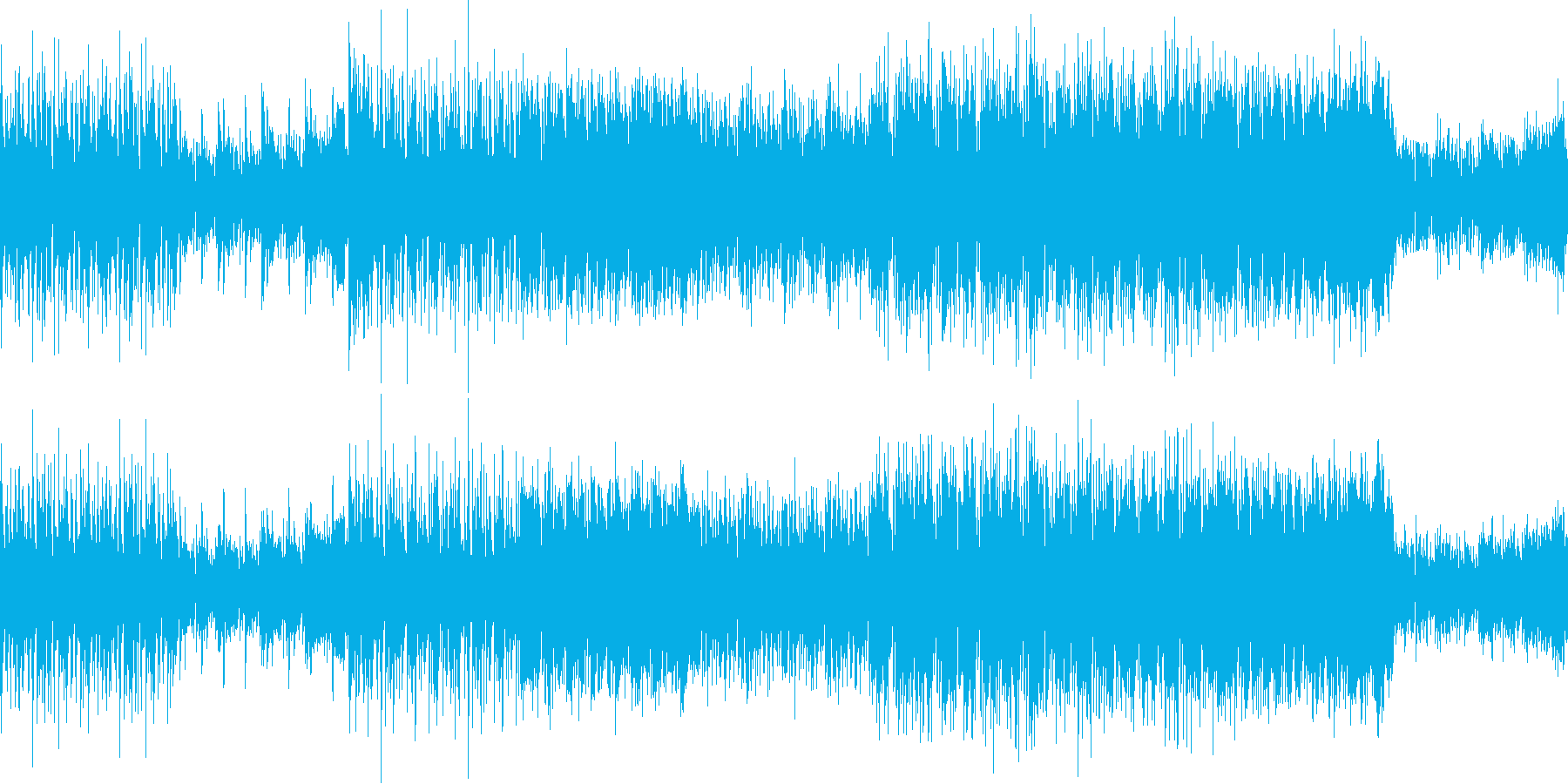 インダストリアルな雰囲気のテクノループの再生済みの波形