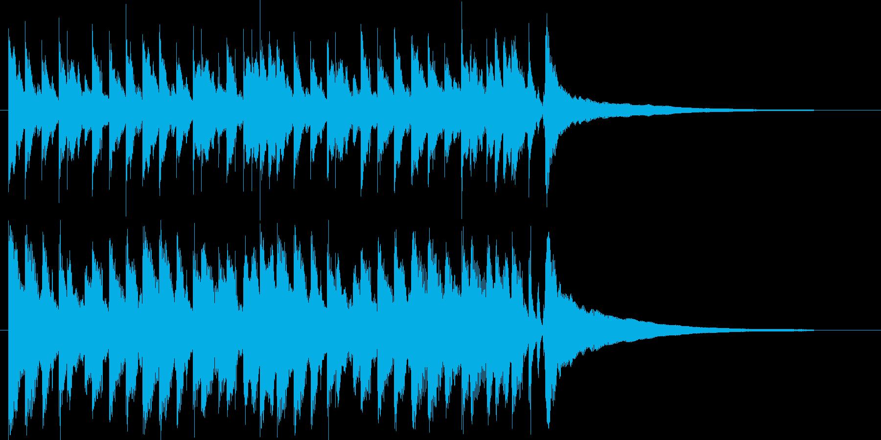流行のアップビートコーポレートサウンド♪の再生済みの波形