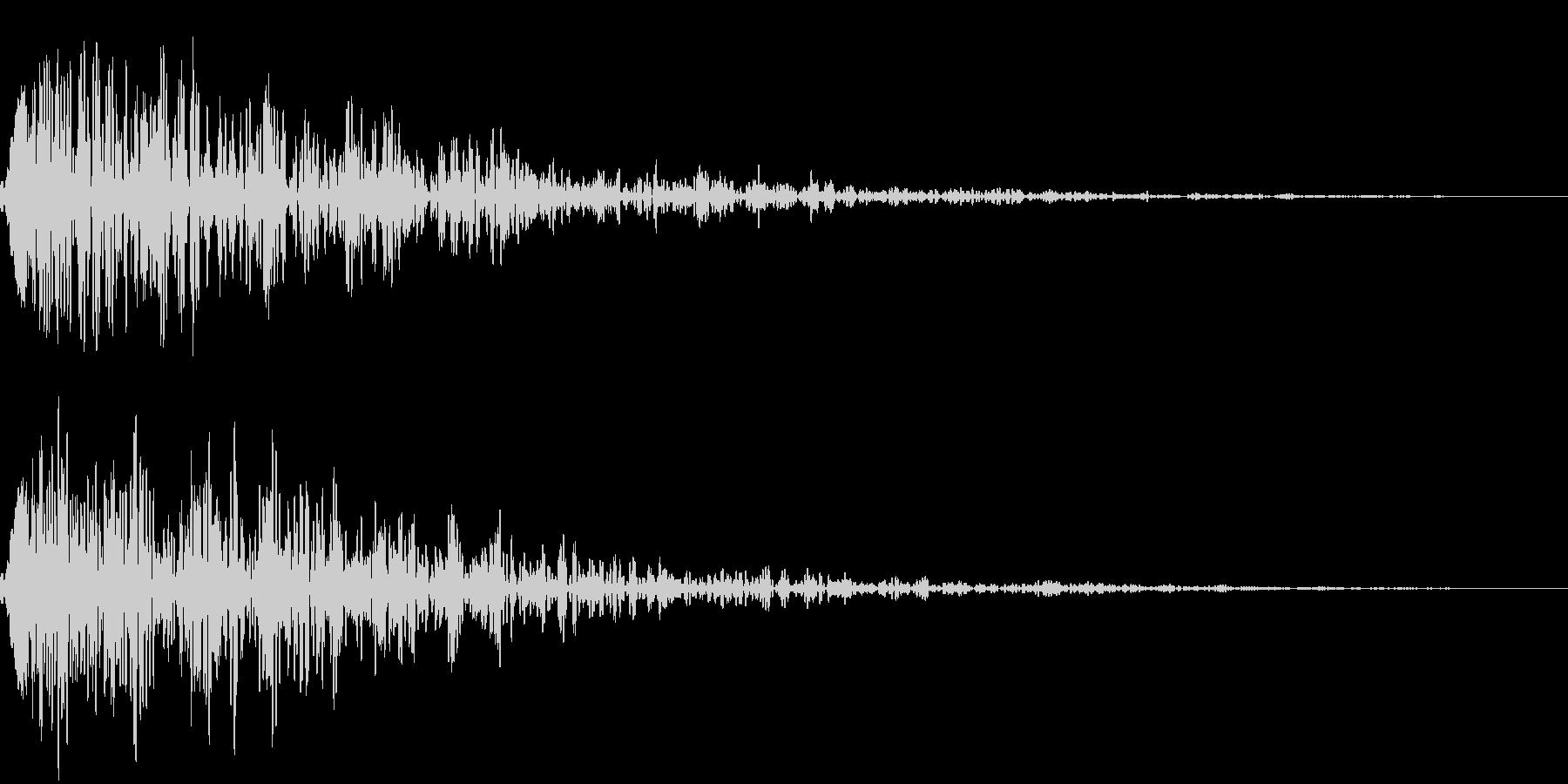【ドーン】残響の効いたインパクト音の未再生の波形