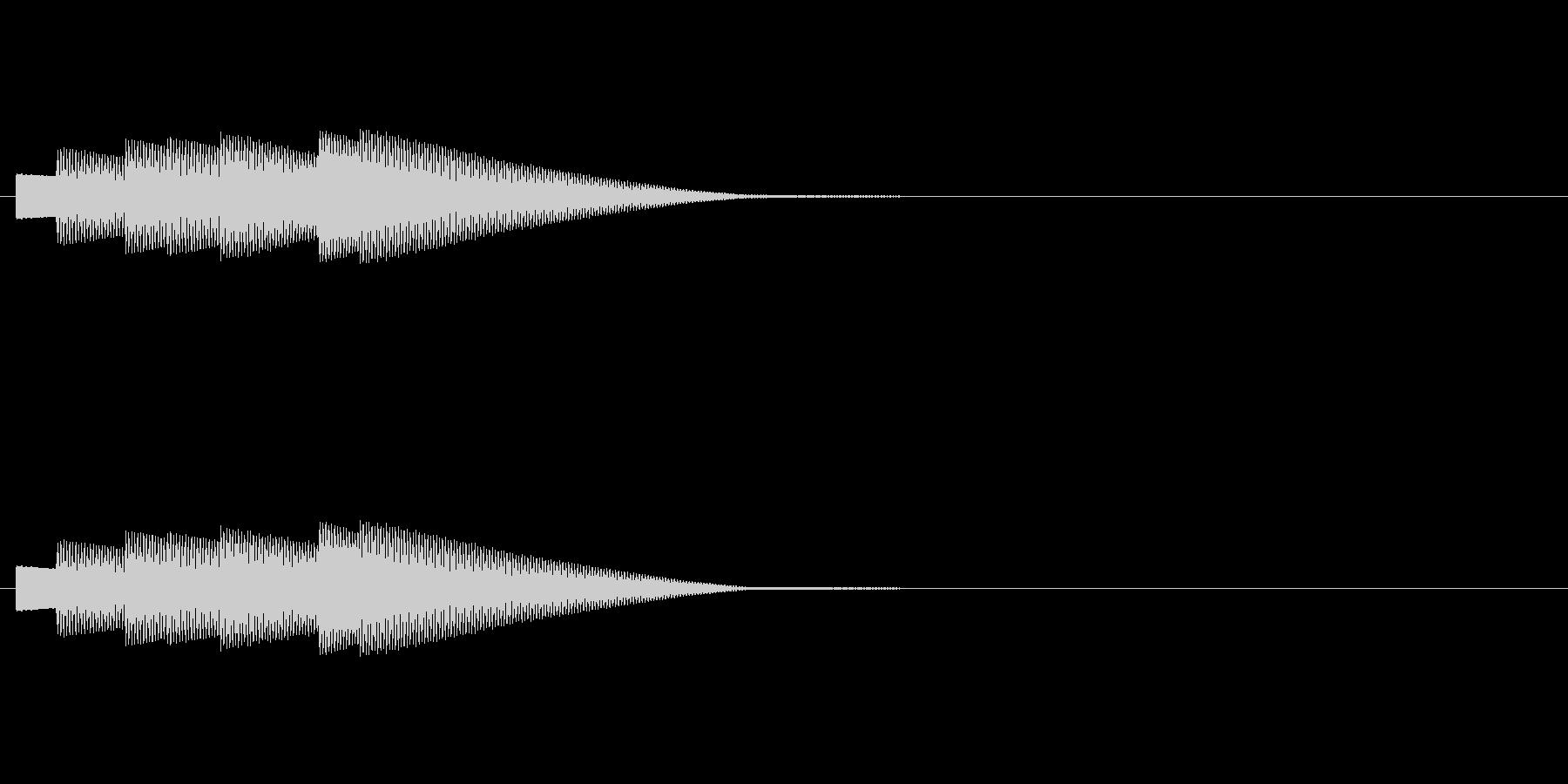 クイズに正解した時の効果音です。の未再生の波形