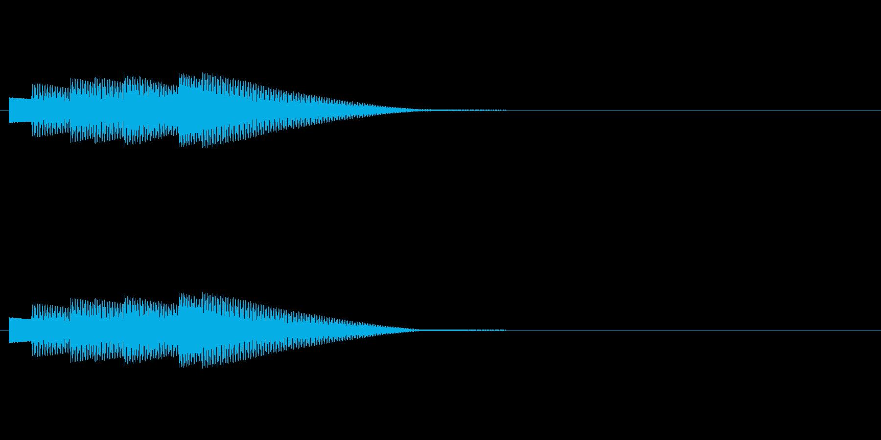 クイズに正解した時の効果音です。の再生済みの波形