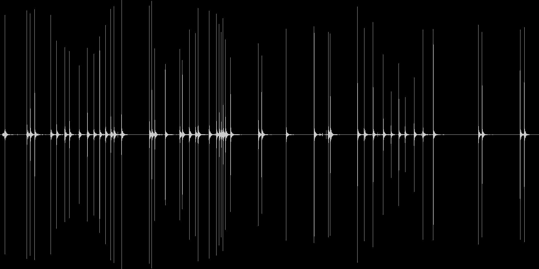 釣りのリールの音、歯車の音の未再生の波形