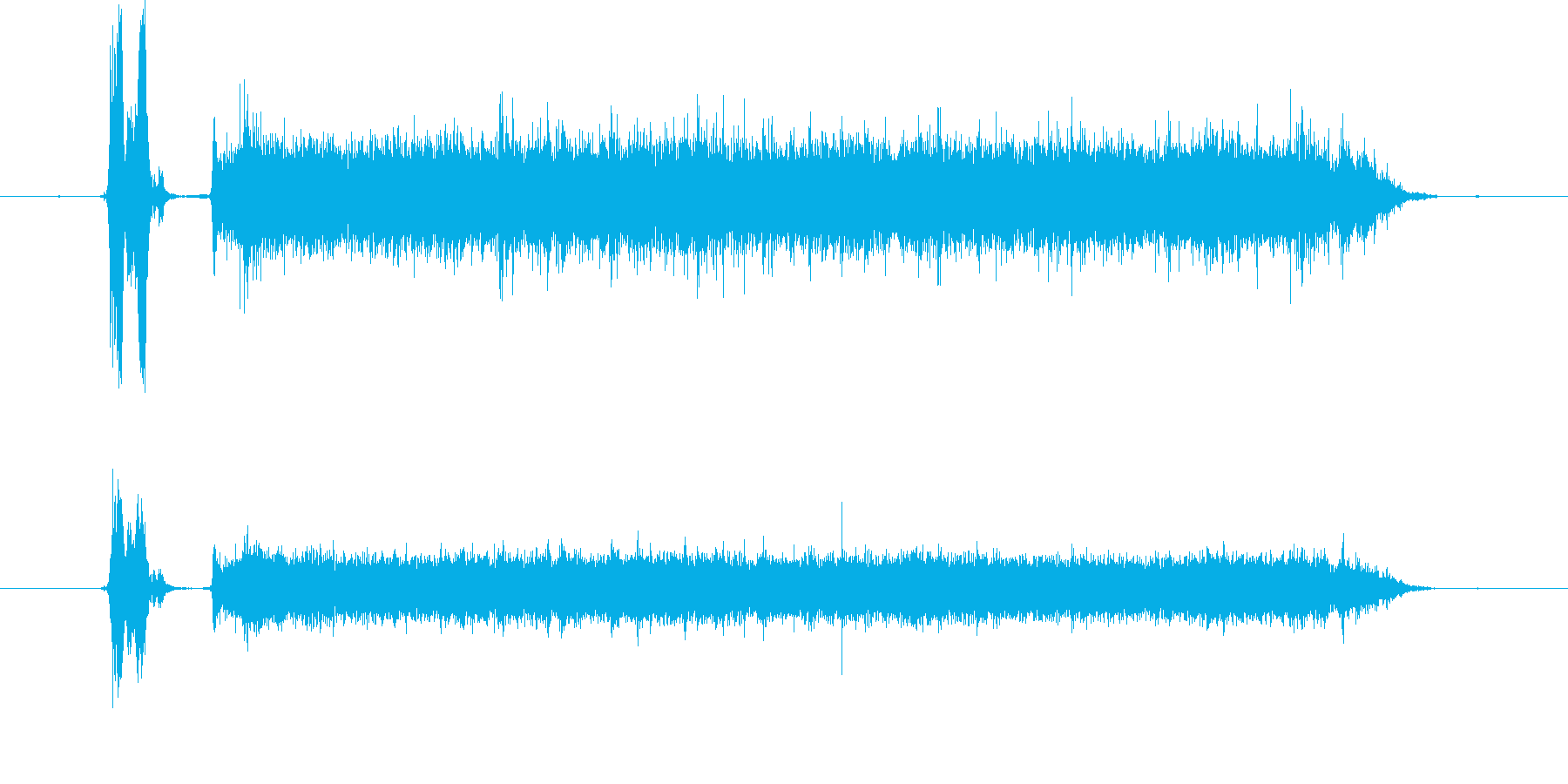 蛇口を捻り水が出る音(音量大)の再生済みの波形