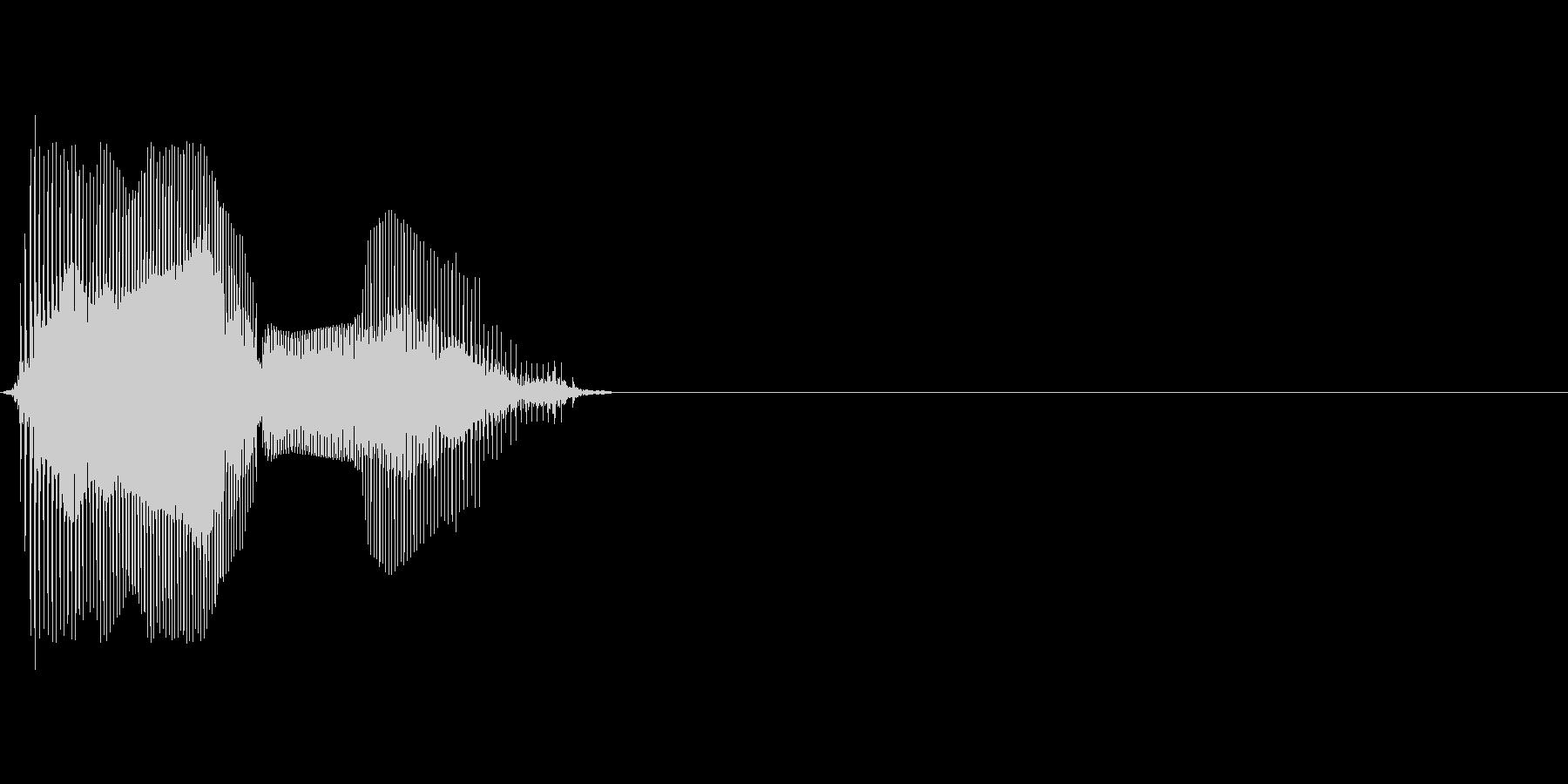 Mの未再生の波形