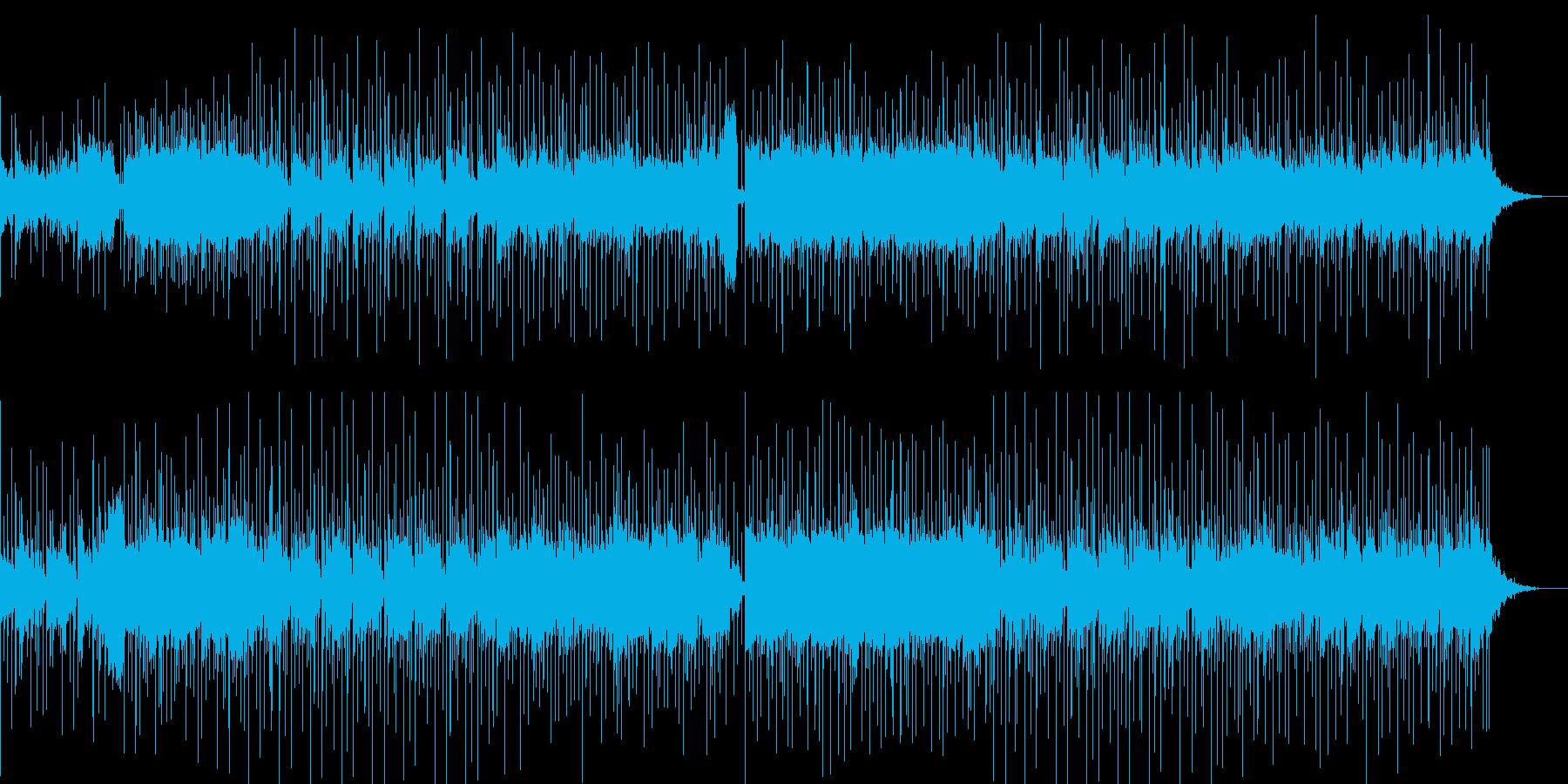 ほのぼのするメロディと印象的なリズムの曲の再生済みの波形