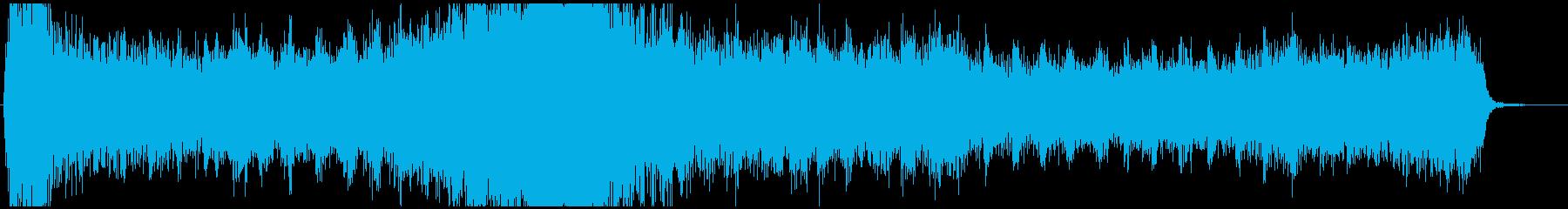 緊急事態の時の焦るBGM(ホラー)の再生済みの波形