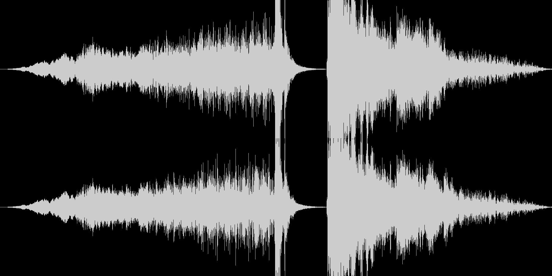 氷属性系攻撃音(キーンピシッバリーン)の未再生の波形