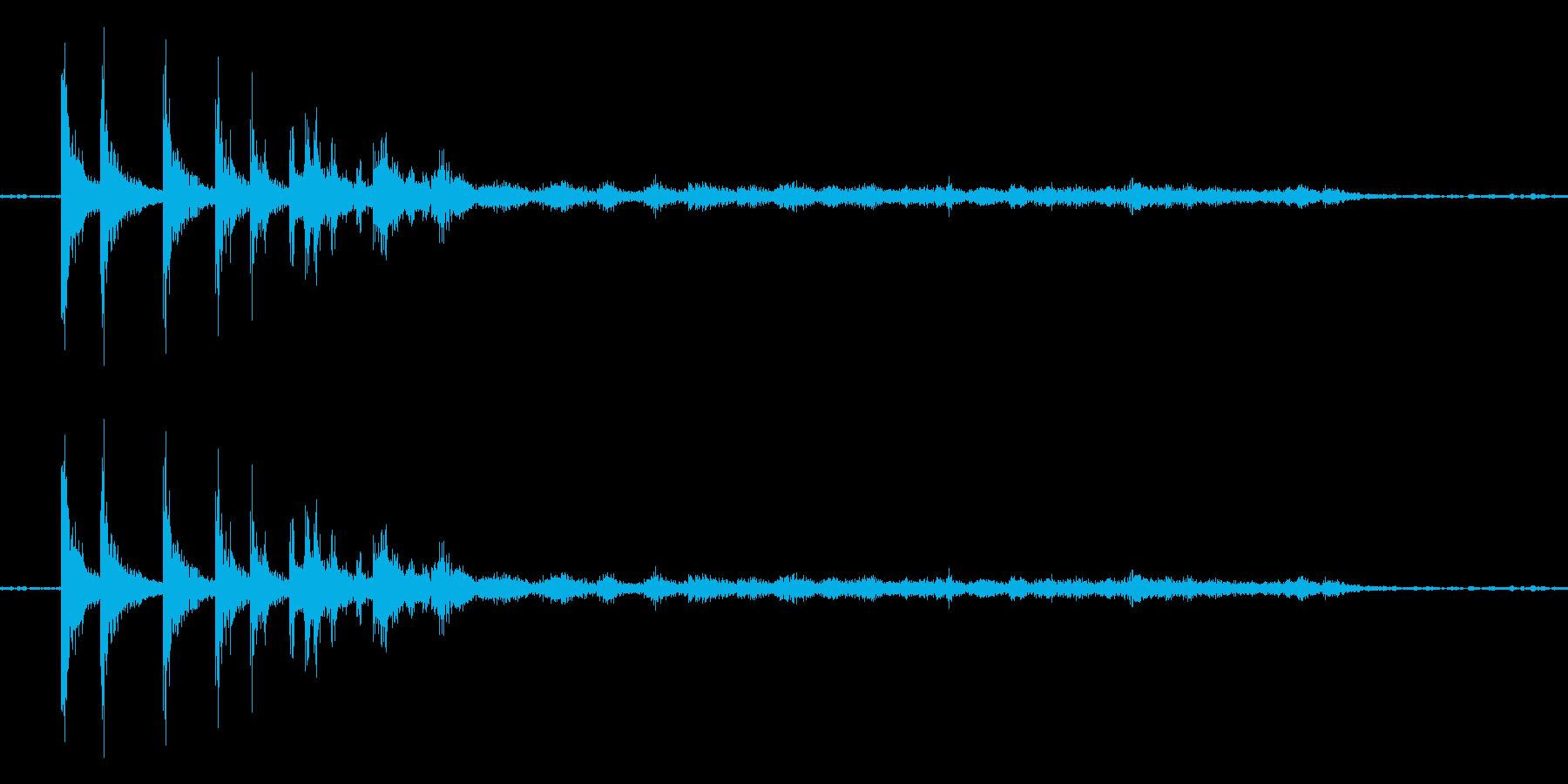 硬貨(100円玉)が転がる音の再生済みの波形