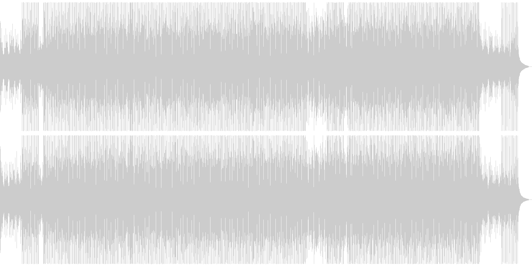 【メロディ無】夏をイメージしたトロピカルの未再生の波形