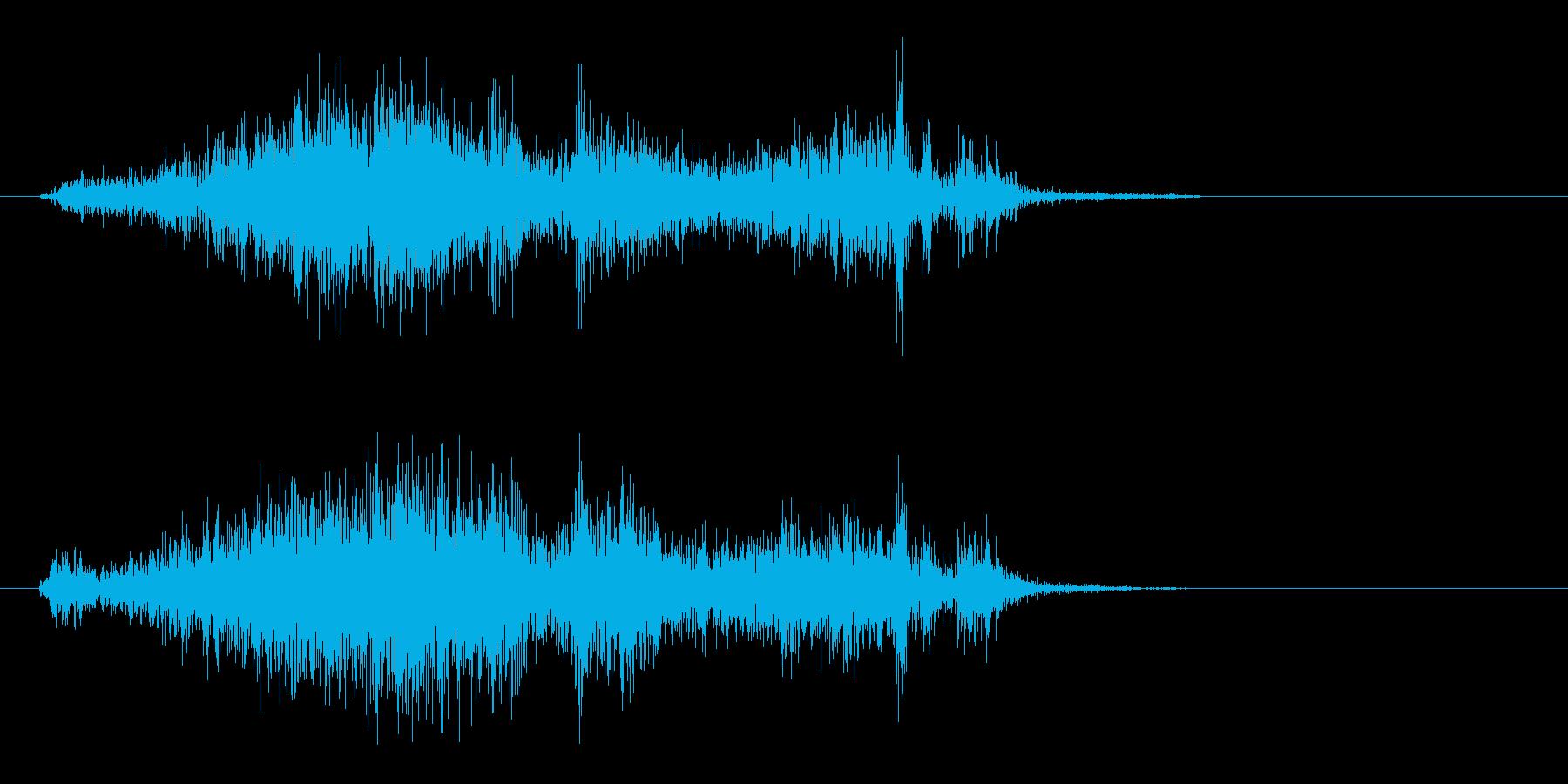 ペラッという紙のこすれる音の再生済みの波形