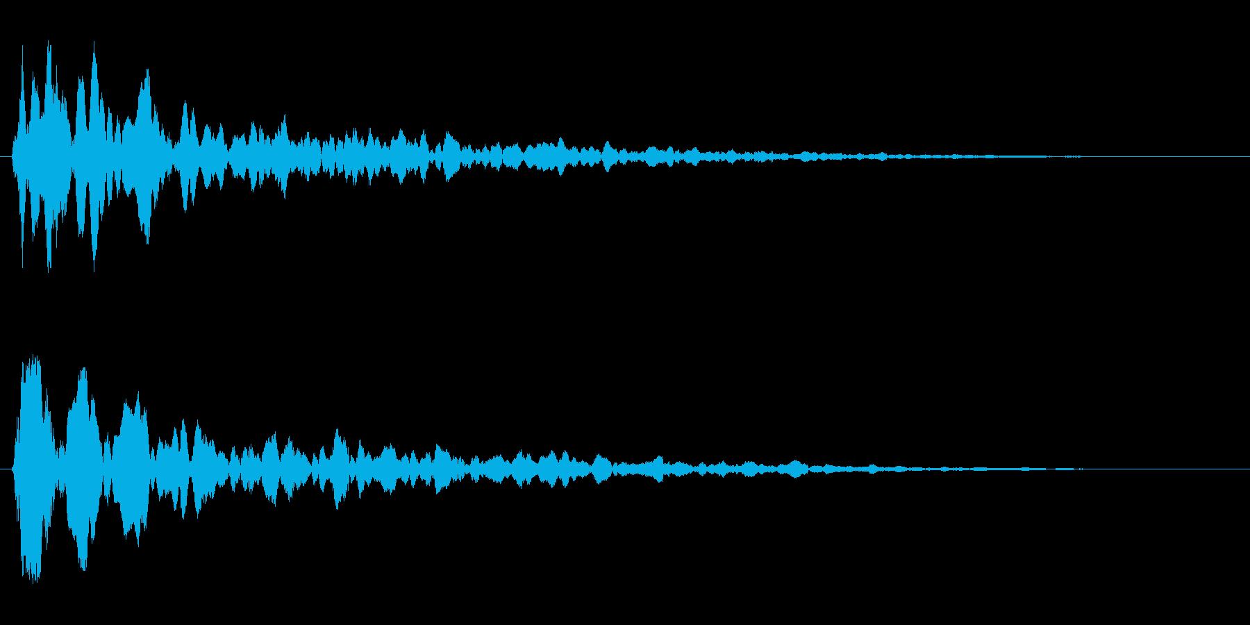 カ〜ン(乾いた木や金属を叩いた音)の再生済みの波形