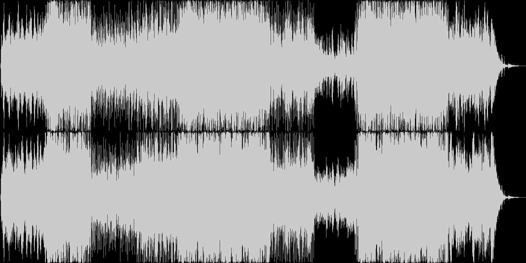 切なく感動的な映像・番組向きバイオリンの未再生の波形