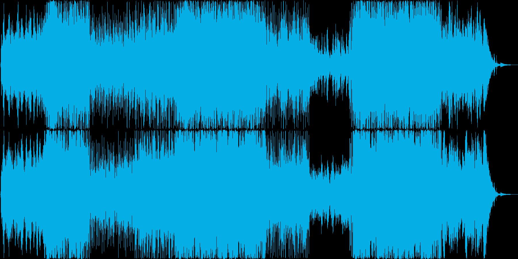 切なく感動的な映像・番組向きバイオリンの再生済みの波形